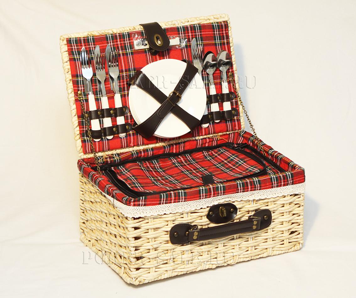 Арт.4265 Набор для пикника в плетеной корзине.