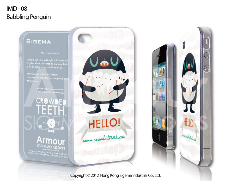 "Чехол для iPhone 4/4s ""Babbling Penguin"""