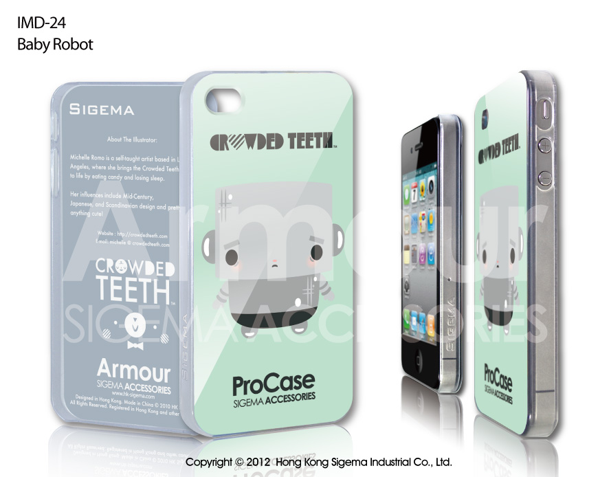 "Чехол для iPhone 4/4s ""Baby Robot Bear"""