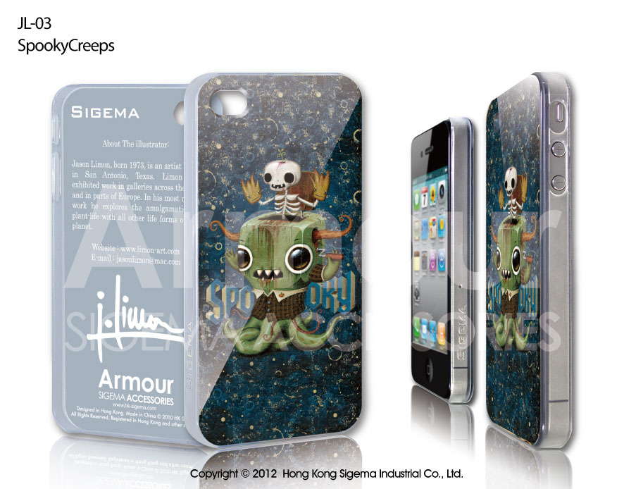 "Чехол для iPhone 4/4s ""Spooky Creeps"""