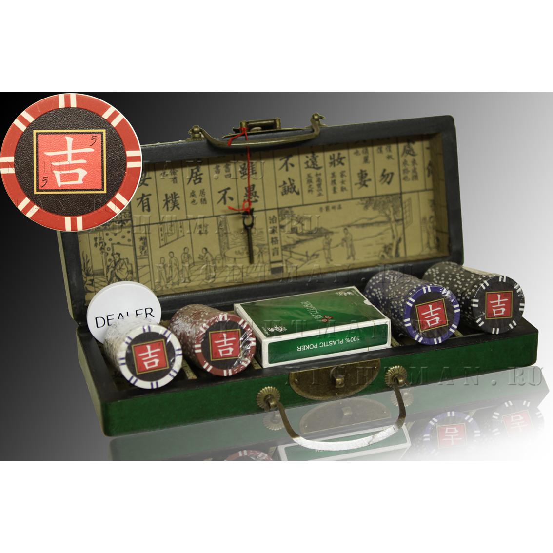 Lucky 100 wood - Покерный набор