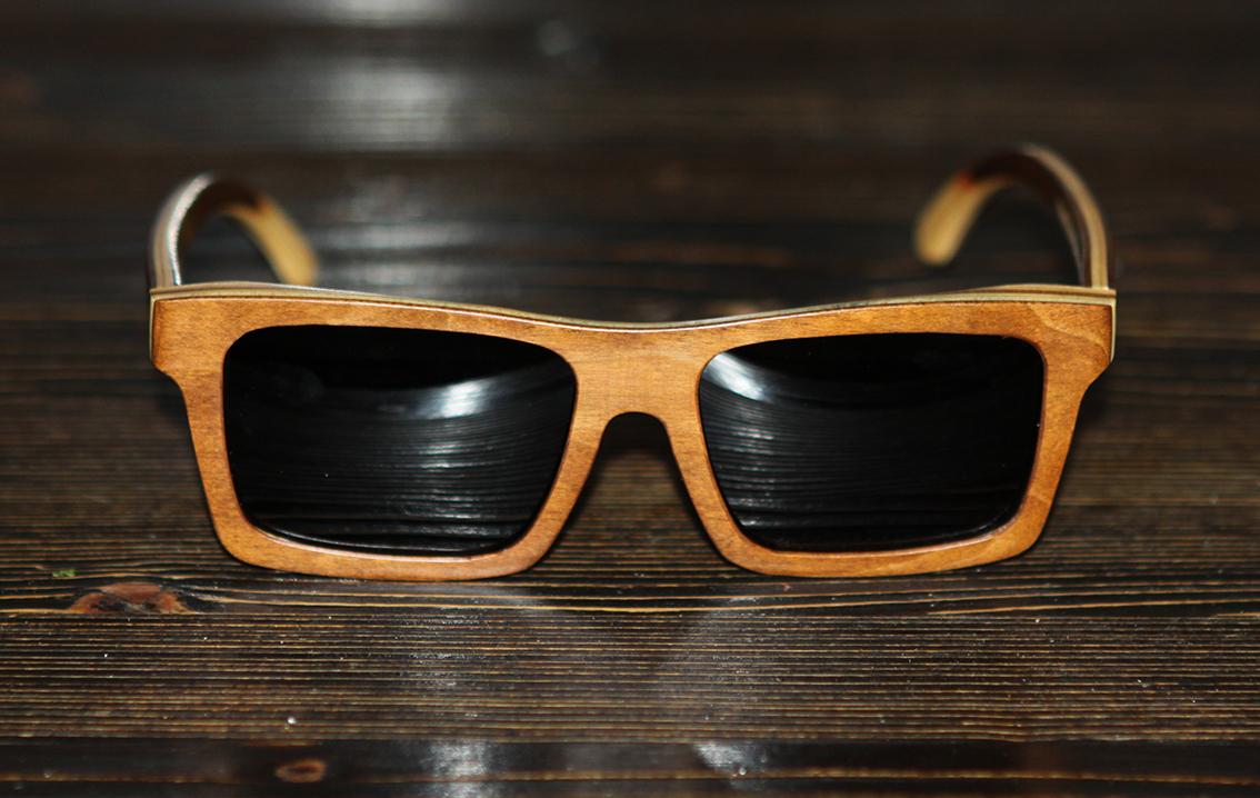 Очки солнечные NM-1155 в деревянной оправе