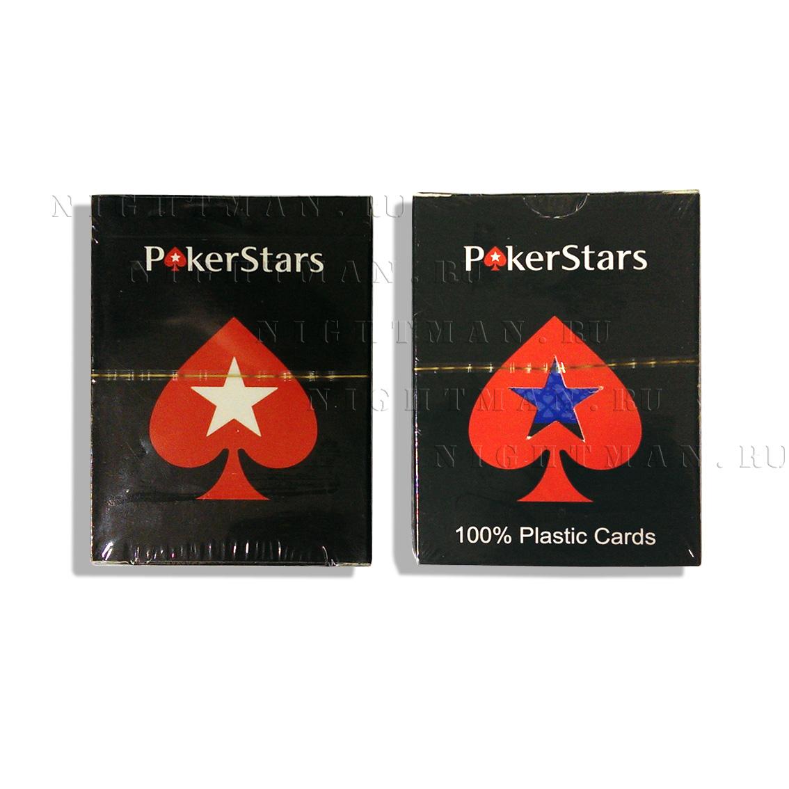 Покерные карты «Poker Stars blue»