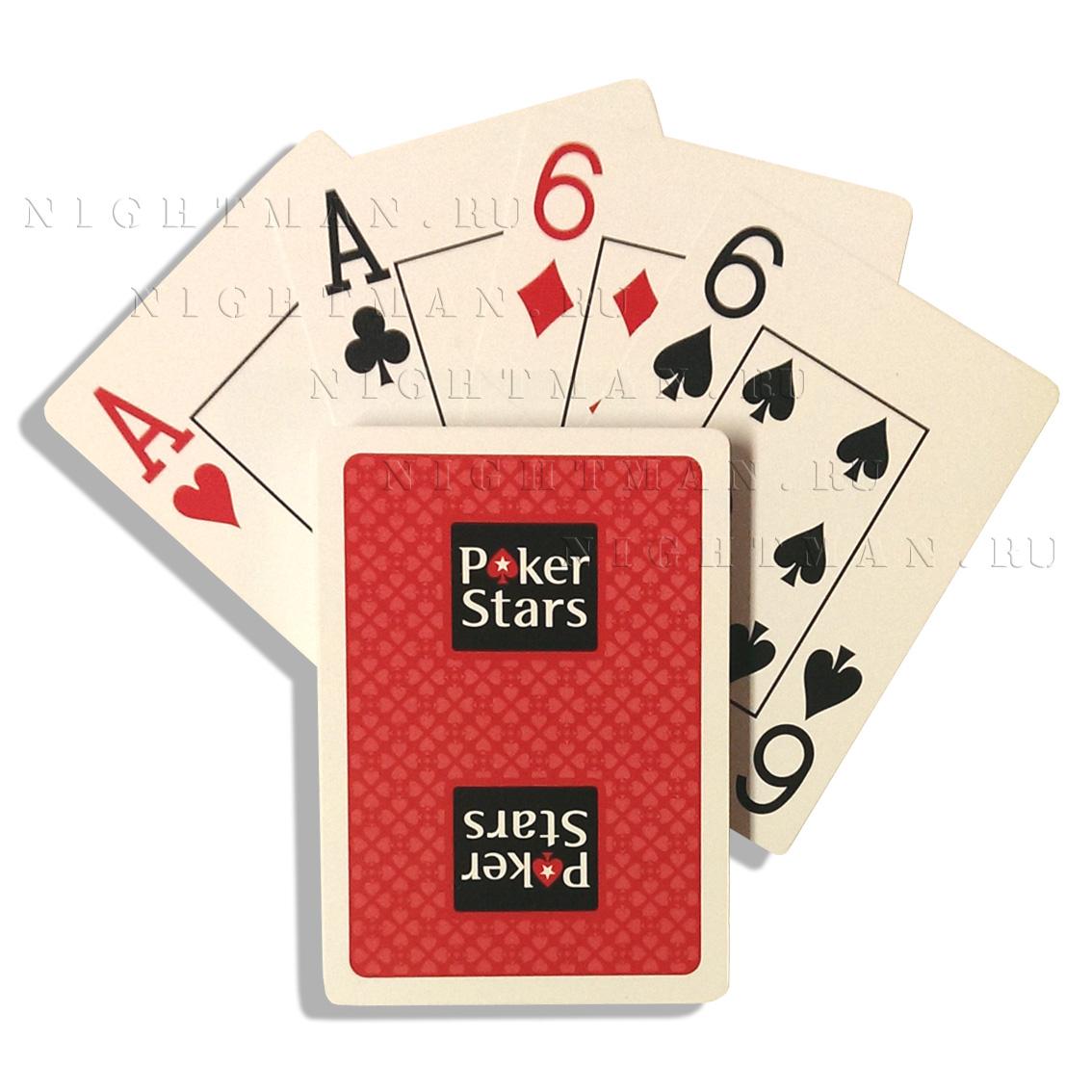 Покерные карты «Poker Stars red»