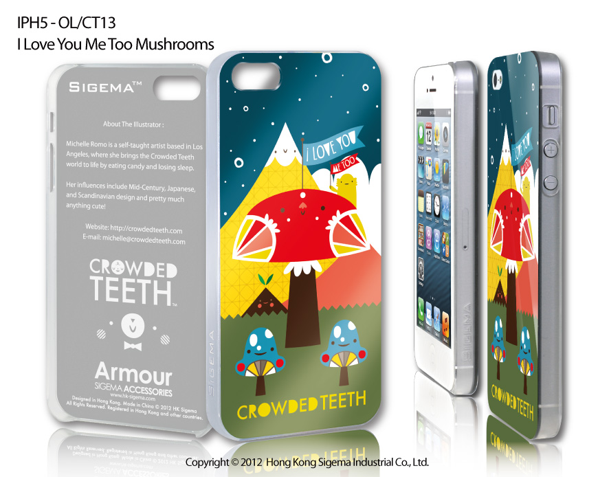 "Чехол для iPhone 5 ""I love You Me Too Mushrooms"""