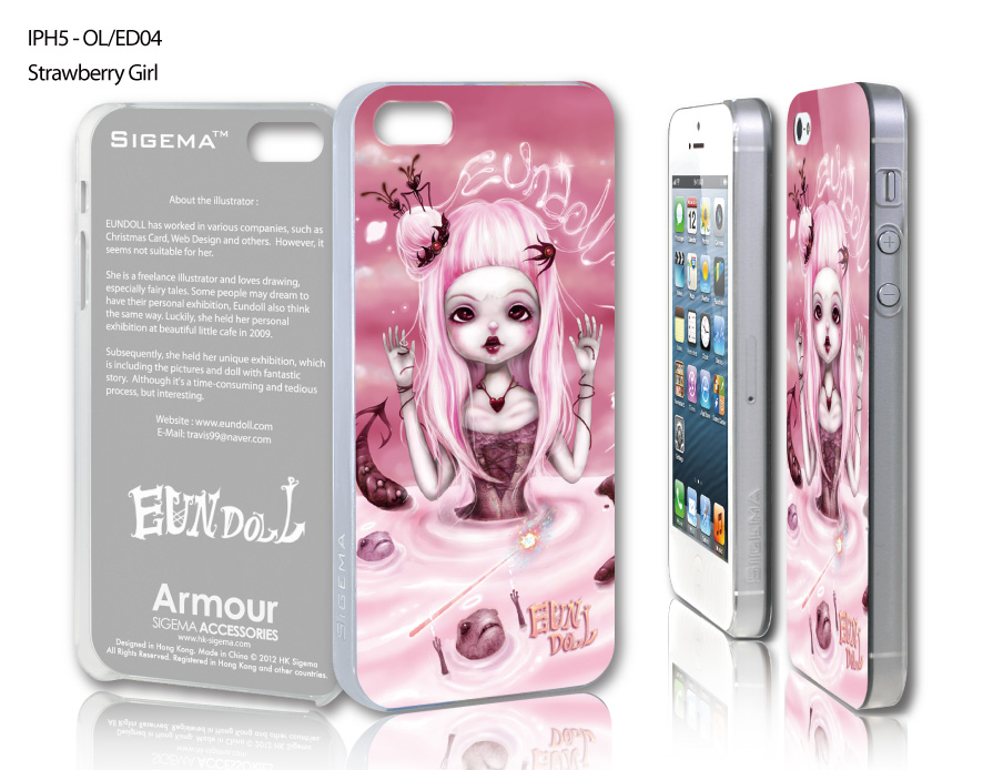 "Чехол для iPhone 5 ""Strawberry Girl"""